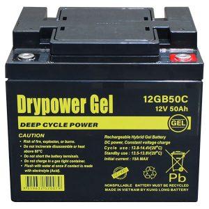 Drypower 12V 50Ah Gel Battery