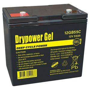 Drypower 12V 55Ah Gel Battery