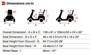 Merits Eclipse S2 dimensions