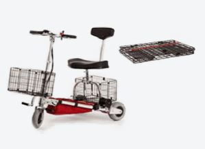 TravelScoot with basket mounted